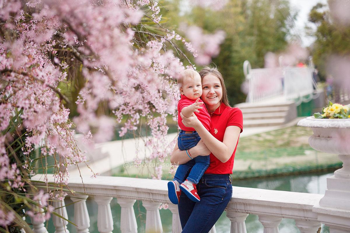 Фотосессия в парке Южные культуры в Сочи