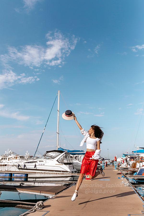 Фотосессия в порту Сочи