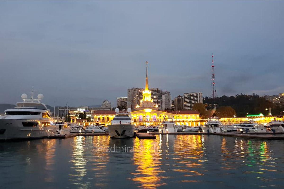 Стоянка яхт в Морском порту Сочи